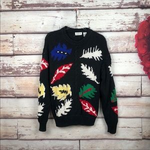 Pierre Cardin vintage botanical sweater oversized